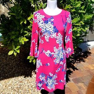 NWT Tommy Hilfiger Shift Dress Pink/Blue Floral 4